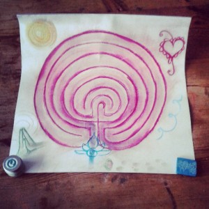 Birthing From Within Labyrinth Art